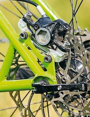 The complete bike is based around an equally solid and mile proof Shimano XT groupset, which is offered in triple, double or Hope narrow/wide single ring configurations