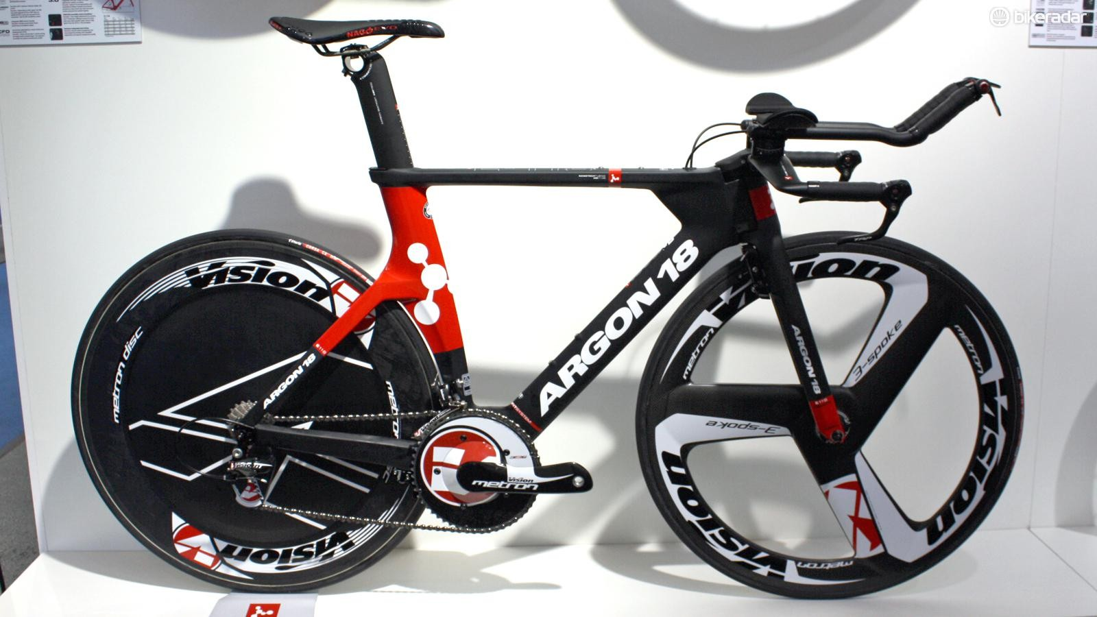 The Argon 18 E-118 Next is new for 2015 and will be the TT bike for the Bora-Argon 18 pro team