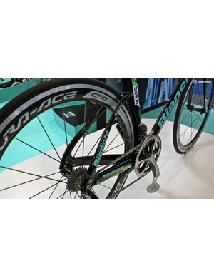 Like Bianchi's Infinitio endurance bike, the Aquila uses Countervail carbon layup to absorb road buzz