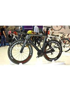 Sure, there was a Ferrari on Colnago's stand, but it was the K Zero TT bike that caught our eye