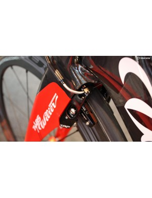 Like many TT bike manufacturers, Wilier has partnered with TRP for stopping duties
