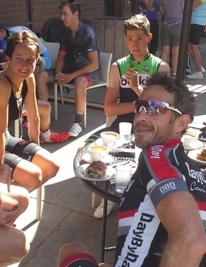 Active recovery, an easy ride with coffee!