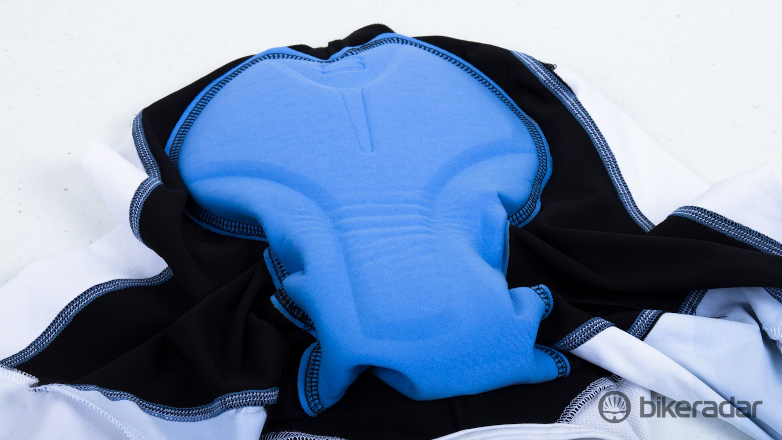 A look at the chamois in the BodyFit bibs