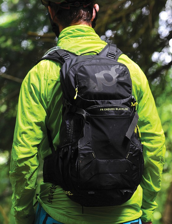 We founf the comfort and stability of the EVOC FR Enduro Blackline hydration pack impressive