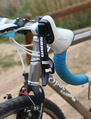 You can buy CX1 Force levers, where the left is 'empty' of shift components, but standard levers don't negatively affect anything aside from carrying a bit of extra weight