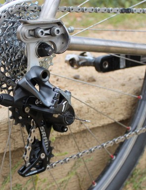 Although the chain seemed to settle in, initially there was some noise when in the larger cogs