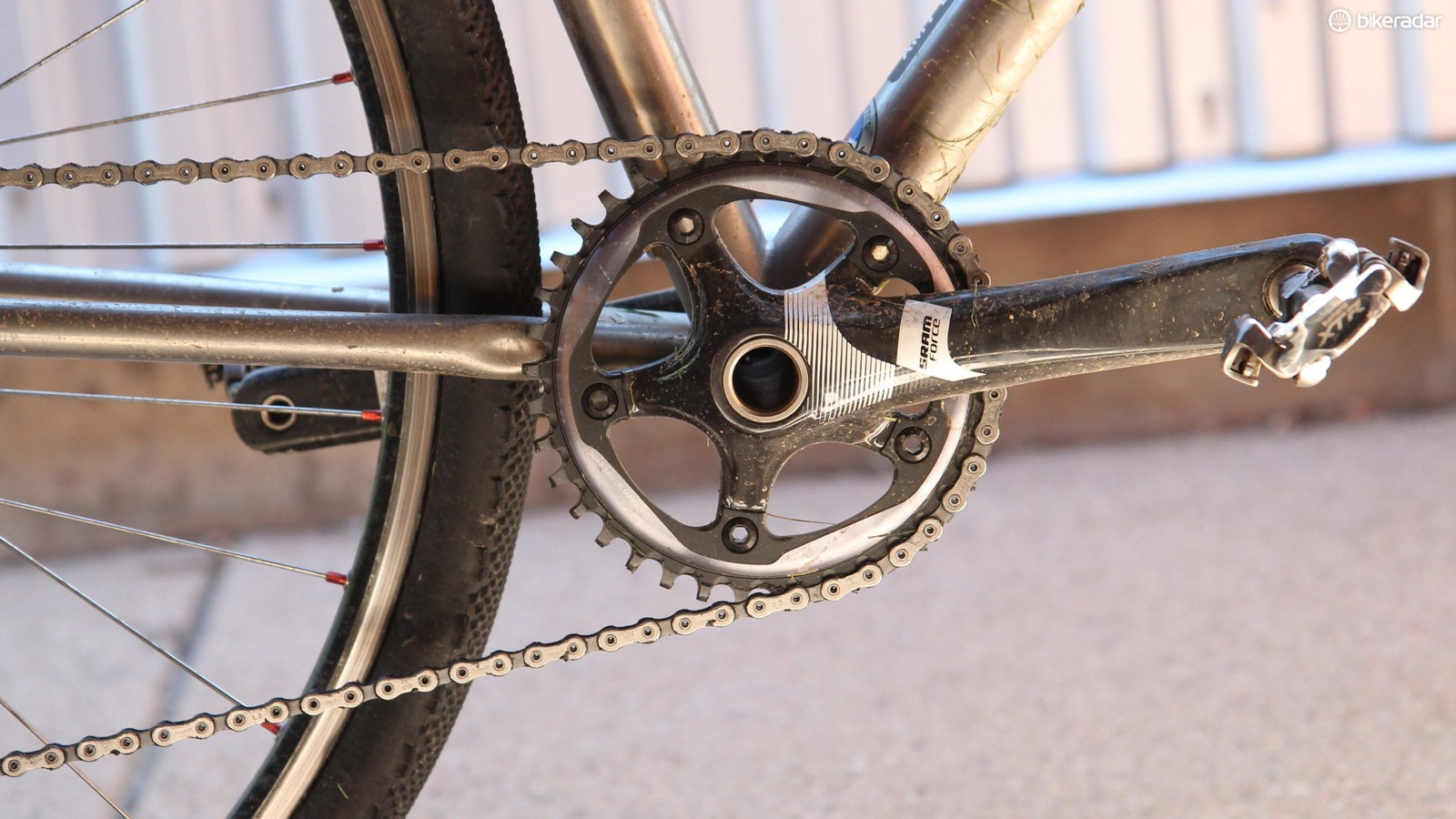 The second set of testing incorporated the CX1 X-Sync chain ring