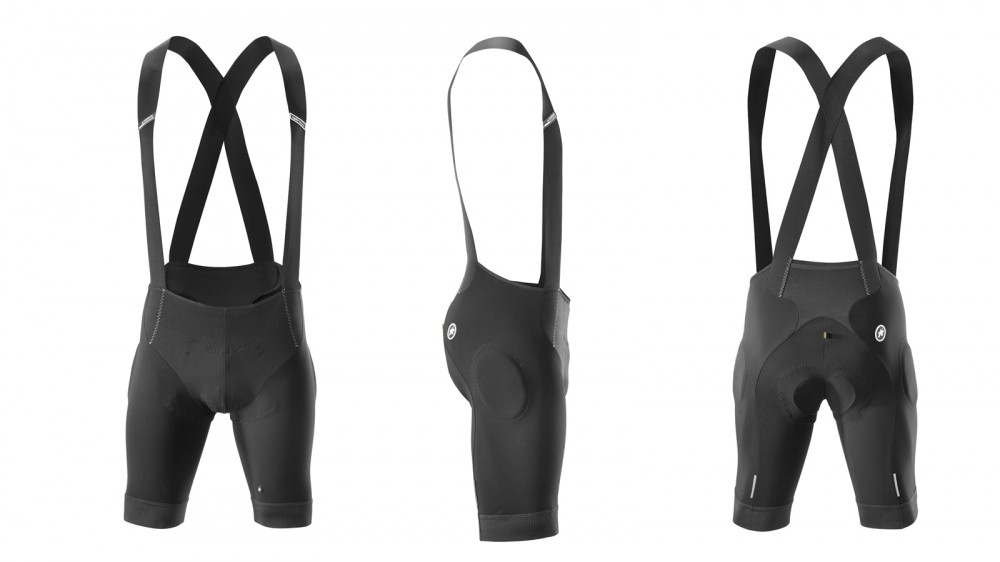 Assos T.Rally Shorts_s7 borrow technologies from the company's S7 road bibs and adds abbrasion-resistant materials, a mountain bike-specific chamois location, crossed shoulder straps and hip pads