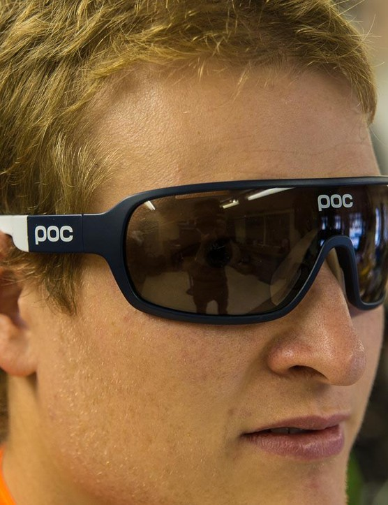 The POC Do Blade glasses give virtually unimpeded vision thanks to the large lenses