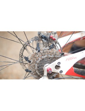Always carry zipties (cable ties) and duct tape. This rider finished the race even after his freehub completely gave way