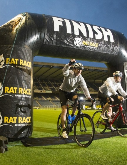 Crossing the finish line meant completion of one of the UK's biggest cycling challenges