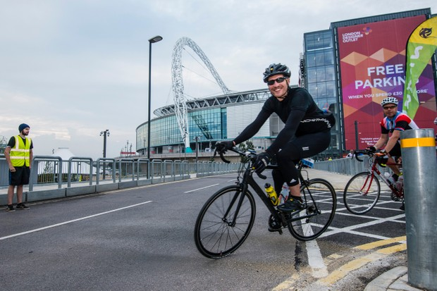 Riders set out from Wembley with 440 miles and 6,000m of ascending before them