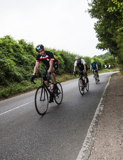 Group riding helped keep morale up on the monumental challenge
