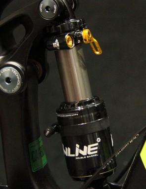 Cane Creek's new DBInline shock was spec'd on a significant number of 120-160mm bikes at this year's show