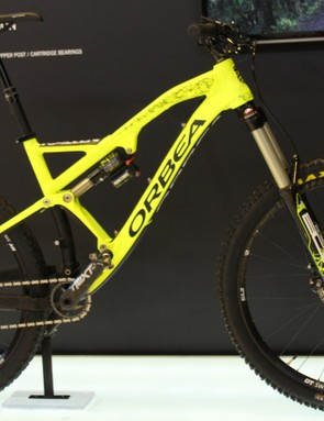 Orbea's top of the line Rallon X-Team sticks with an alloy frame and Bos suspension