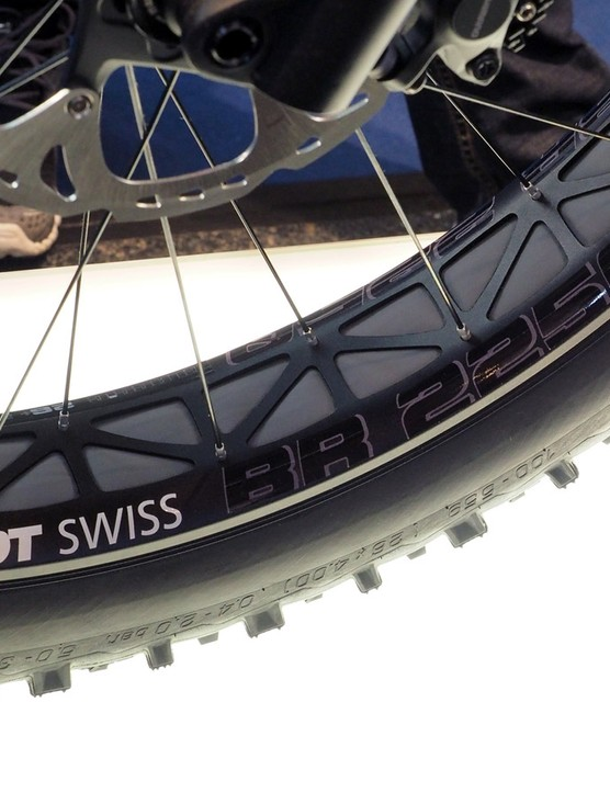 DT Swiss previewed its new fat bike wheelset, the BR 2250 Classic, on Canyon's new fat bike at Eurobike