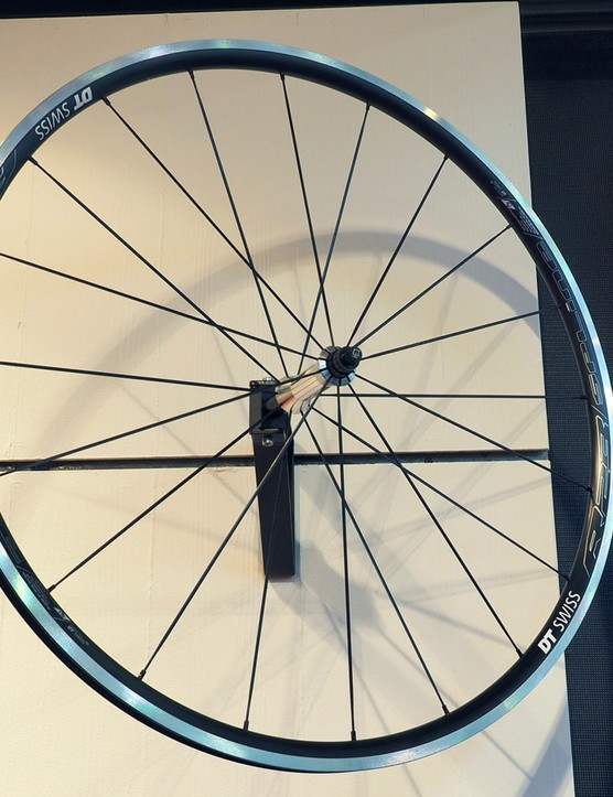 The new DT Swiss R23 Spline rim brake road wheels feature an 18mm inner rim width, tubeless compatibility, and a 1,605g claimed weight for the pair