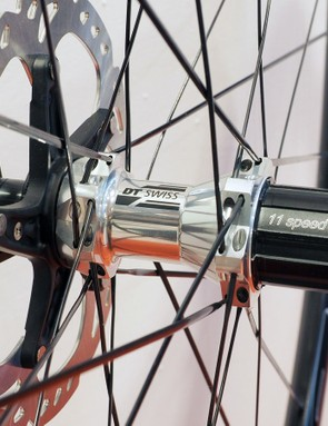 Looking for road wheelsets with 11-speed compatibility, thru-axle options, and splined interfaces for Shimano Center Lock rotors? DT Swiss comes to the rescue
