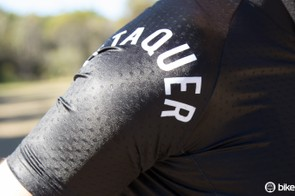 Attaquer's jersey fabric is form-fitting and well ventilated. The branding in the NormCore range is minimalist