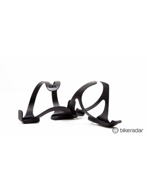 The JetBlack carbon bottle cages are super light, and look like they should hold the bottle snug
