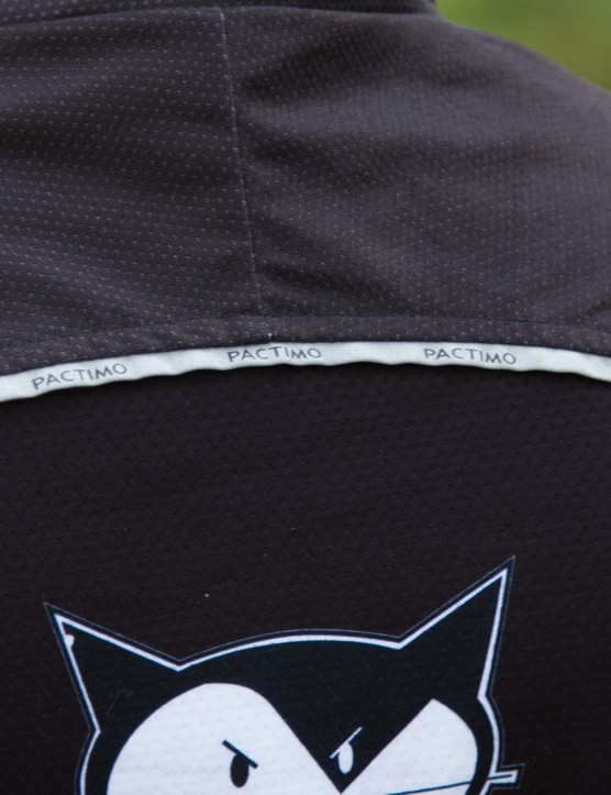 Reflective piping on the jacket adds additional visibility