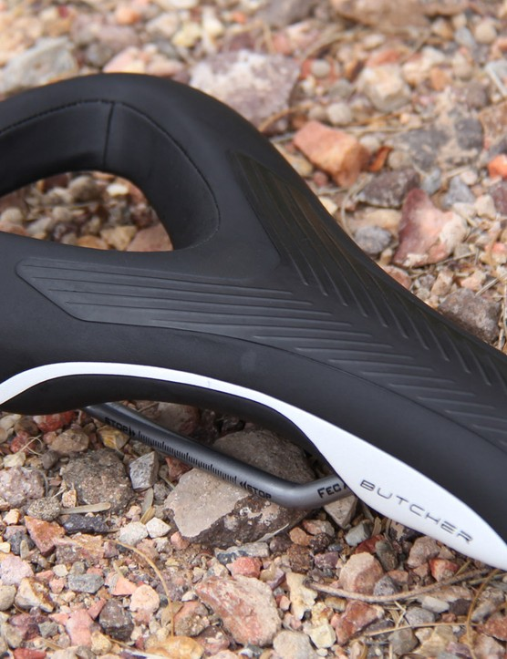 The Butcher is a rather unique looking saddle designed for gravity riding