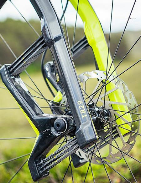 The Lauf's leaf springs tackle fire-road buzz superbly, but when things get marginally rougher, lateral flex becomes a real issue