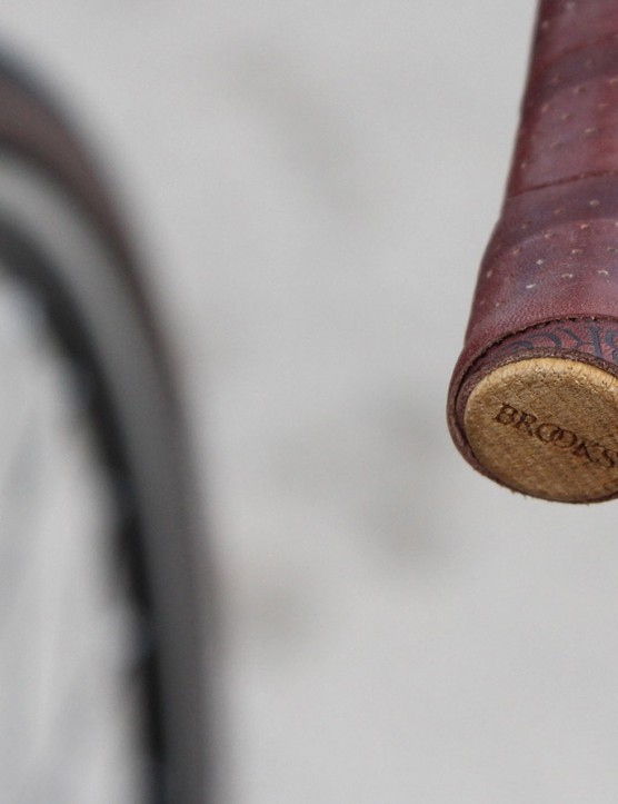Brooks handlebar tape comes with these classy cork plugs