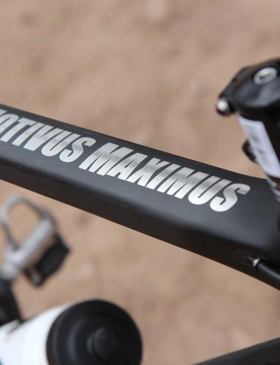 Motivus Maximus is the new road frameset from Van Dessel