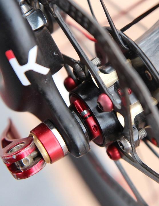 A pre-load lock ring snugs up the angular-contact bearings