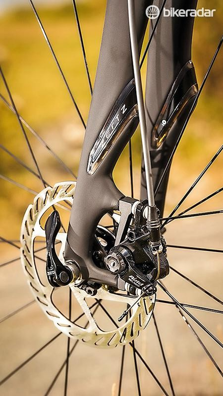 Avid supplies its BB7 cable disc brakes