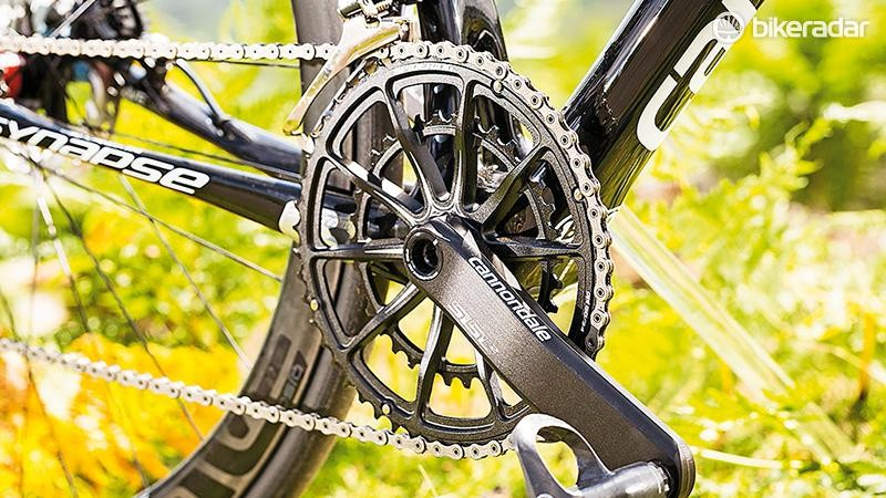 Cannondale's unique and lightweight SpiderRing chainset