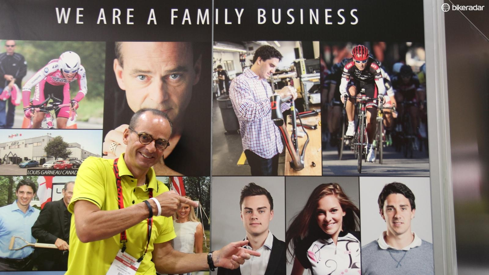 Company founder Louis Garneau is proud of his children Edouard, Victoria and William, who are involved in the business