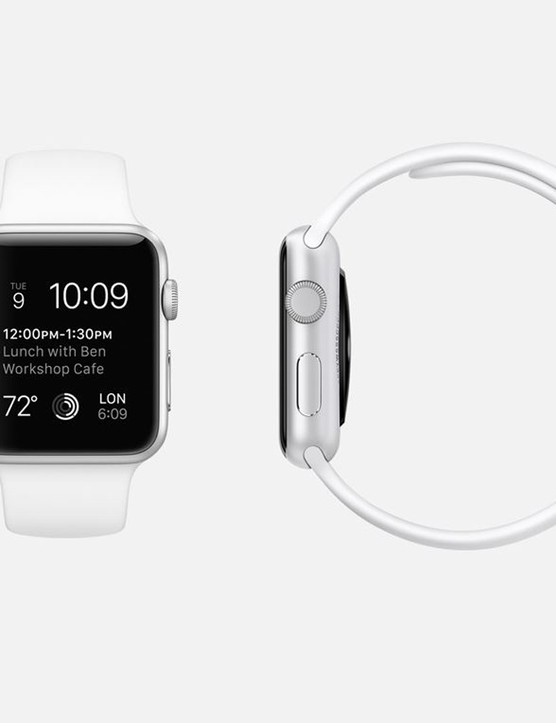 The Watch will be available in mulitple configurations and two sizes. Pictured is the Apple Watch Sport