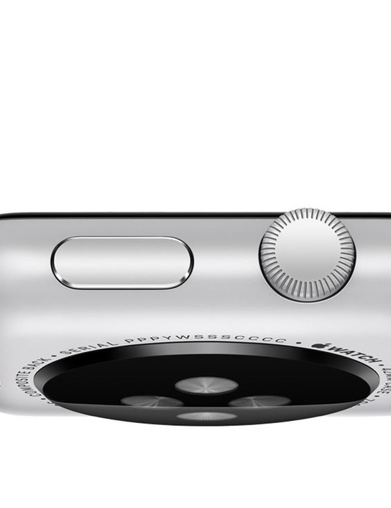 A look at the Digital crown dial (which doubles as the home button) on the right
