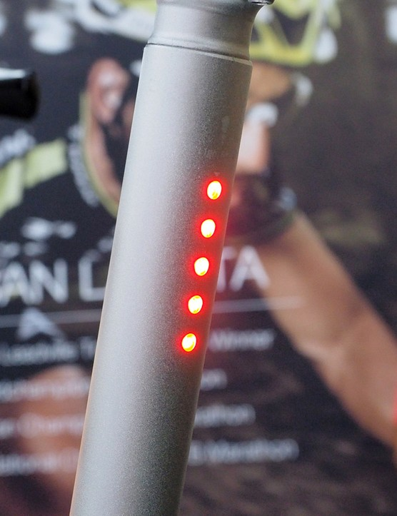 LED taillights are built right into the seatpost
