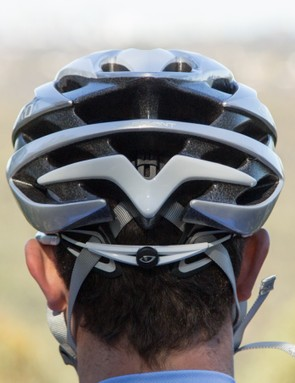A plethora of exhaust vents promote airflow out the back of the helmet