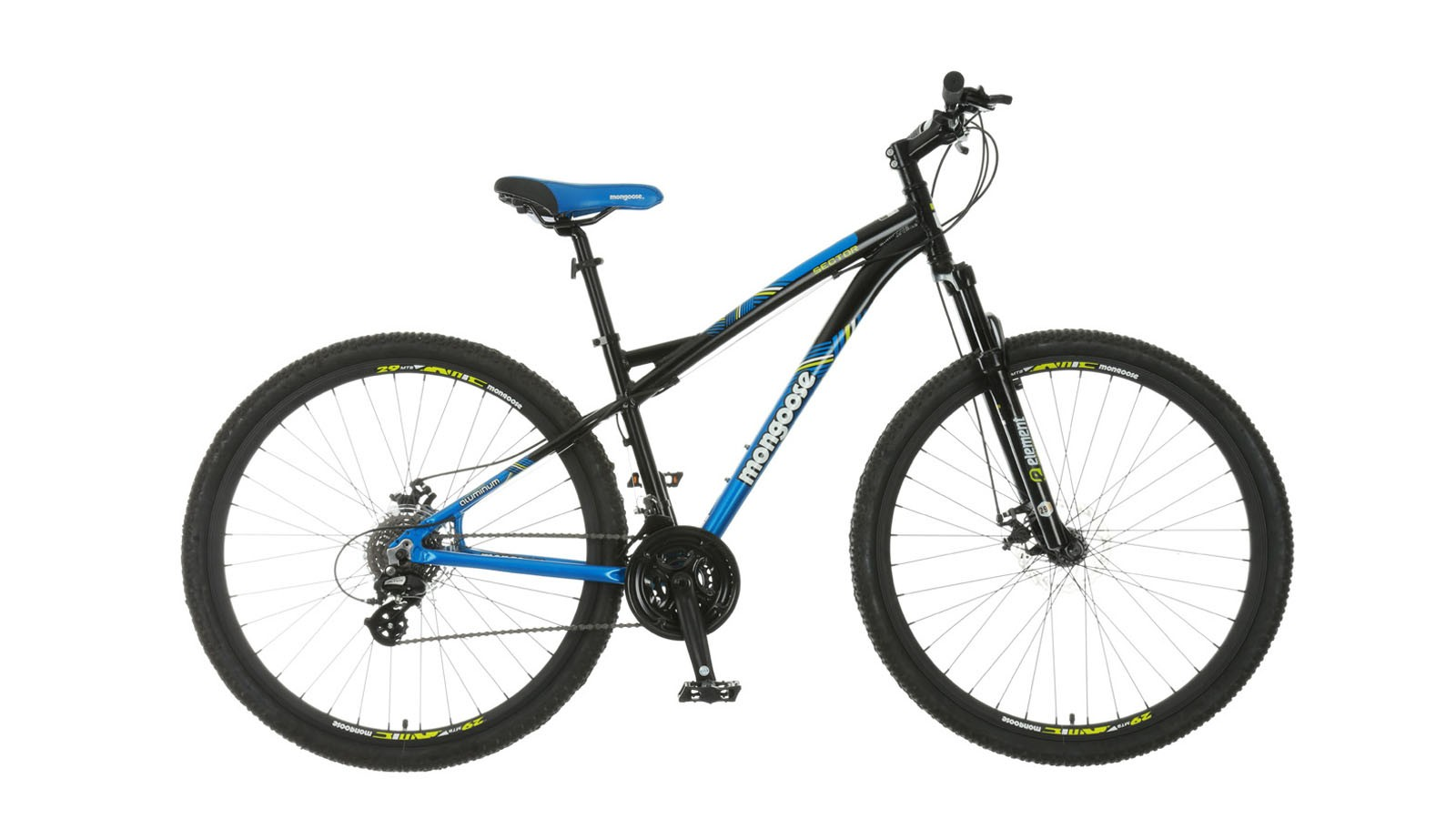 The Mongoose Sector 29in hardtail mountain bike