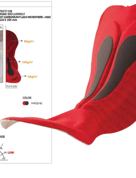 The Road Performance Space chamois is Elastic Interface's 'road product of Excellence', designed for extra-long distance rides, and representing the latest in terms of chamois technology