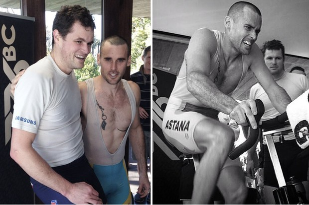 Olympic rowers Matt Ryan and Karsten Fosterling rode Wattbikes for 24 hours to raise money for the Leukemia Foundation