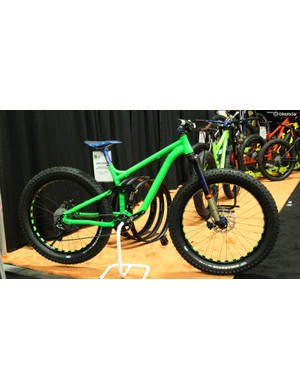 The Epicyon is 11Nine's shorter-travel full suspension fat bike, and has 110mm of squish