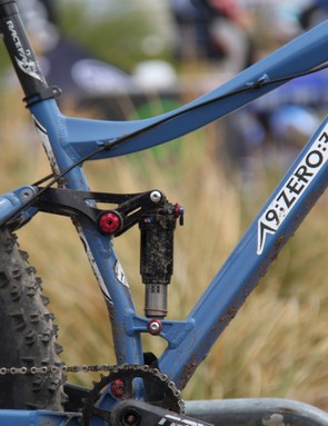 The frame has 100mm of rear suspension