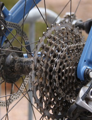 Rear dropout spacing on 9:Zero:7's prototype is 197mm