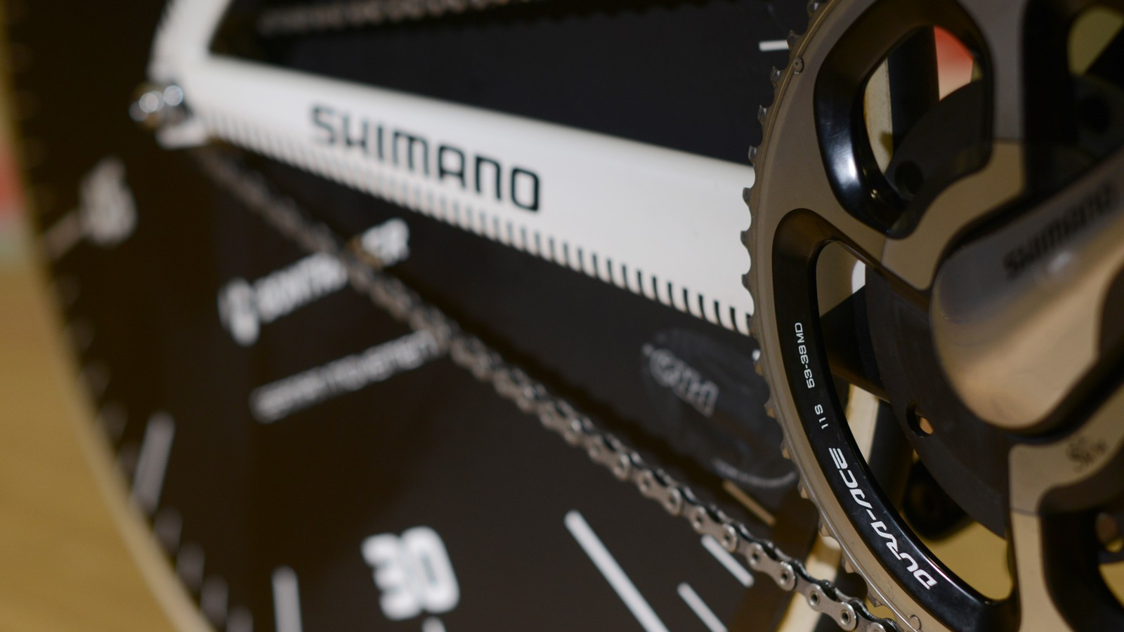 The bike has a standard road chainring and chainline too. Additionally, Trek manufactured some custom rear cogs, with the help of Shimano
