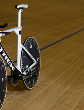 Voigt is confident in using a full front disc wheel