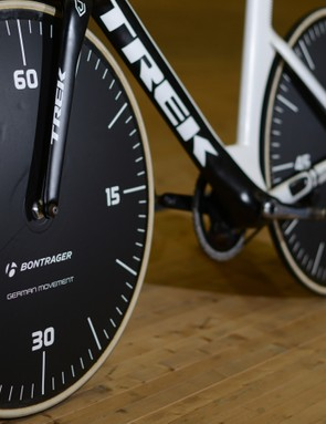 The Bontrager-branded PRO wheels feature fitting detail
