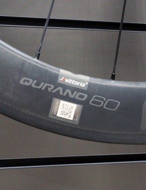 Vittoria is building its carbon fibre tubular rims with graphene-reinforced carbon fibre composites, which are supposedly stronger and lighter than conventionally built rims. External nipples will make for easier servicing, too