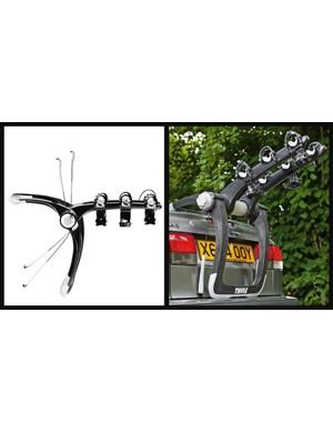 The Thule Raceway 992 bike rack can hold three bikes