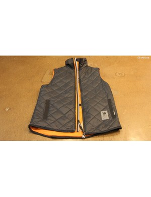 The Warm Vest is a reversible, reflective piece