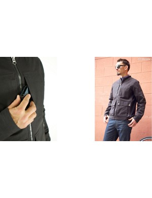 Upright Cyclist's new Lakeshore Jacket is made of Cordura cotton with a cycling cut
